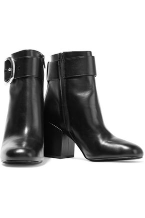 ALEXANDER WANG Kenze buckled leather ankle boots