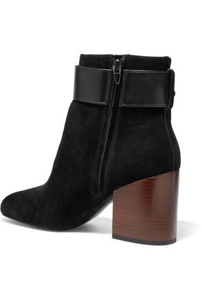 ALEXANDER WANG Kenze buckled suede ankle boots