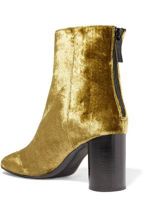 SANDRO Crushed velvet ankle boots