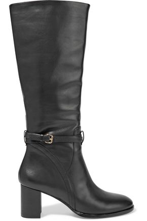 HALSTON HERITAGE Buckled leather boots