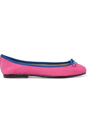 FRENCH SOLE India bow-embellished suede ballet flats