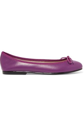 FRENCH SOLE India bow-embellished leather ballet flats