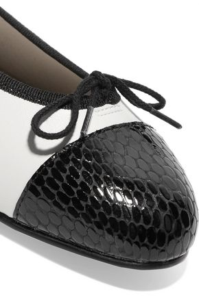 FRENCH SOLE Two-tone leather ballet flats