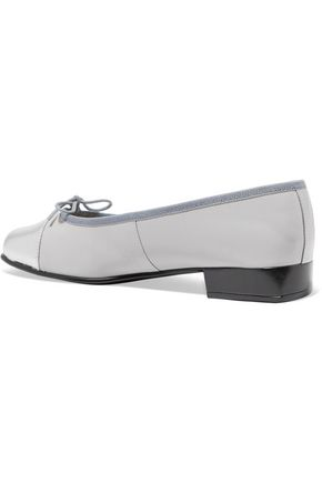 FRENCH SOLE Metallic leather ballet flats