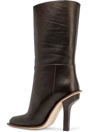MARNI Textured-leather boots