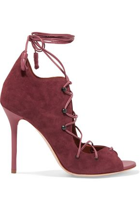 MALONE SOULIERS Savannah lace-up suede sandals