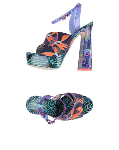 Фото - Женские сандали SOPHIA WEBSTER фиолетового цвета