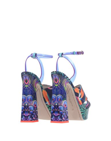 Фото 2 - Женские сандали SOPHIA WEBSTER фиолетового цвета
