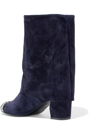 CASADEI Embellished suede boots