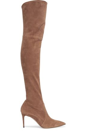 CASADEI Suede over-the-knee boots