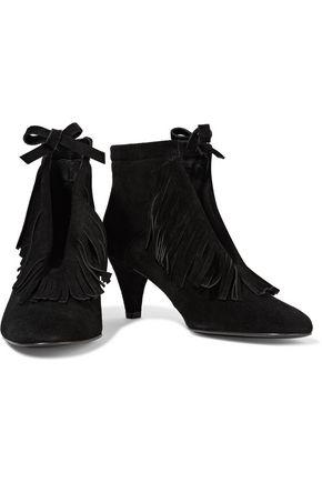 MAJE Frange fringed suede ankle boots