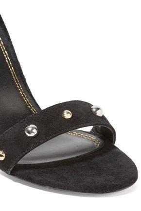 MAJE Alba studded suede sandals