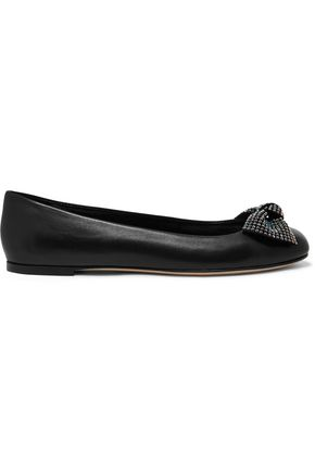 GIUSEPPE ZANOTTI DESIGN Studded leather ballet flats