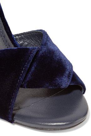 MAJE Embellished velvet sandals