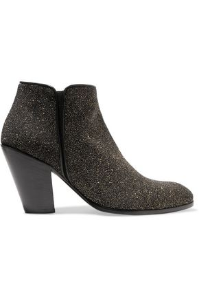 GIUSEPPE ZANOTTI Glittered leather ankle boots