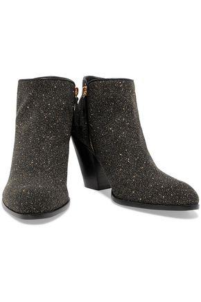 GIUSEPPE ZANOTTI DESIGN Glittered leather ankle boots