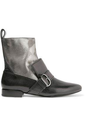 3.1 PHILLIP LIM Louie buckled coated leather ankle boot