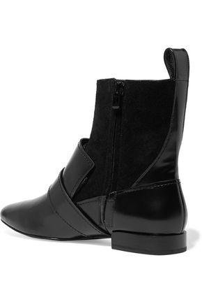 3.1 PHILLIP LIM Louie buckled leather and suede ankle boots