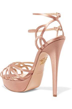 CHARLOTTE OLYMPIA Ursula satin platform sandals