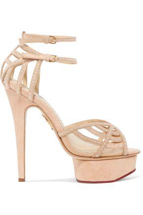 CHARLOTTE OLYMPIA Octavia embellished suede platform sandals