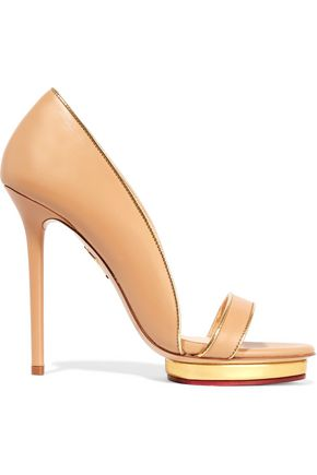 CHARLOTTE OLYMPIA Christine leather platform sandals