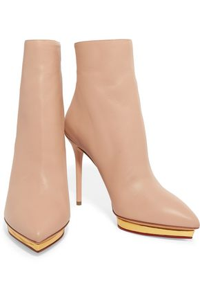CHARLOTTE OLYMPIA Deborah leather boots