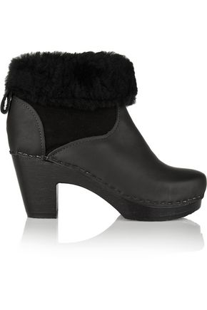 No. 6 STORE Shearling and leather ankle boots