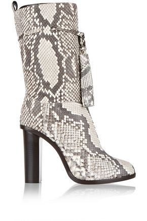 LANVIN Tasseled python boots