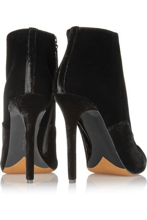 TABITHA SIMMONS Pace lace-up velvet ankle boots