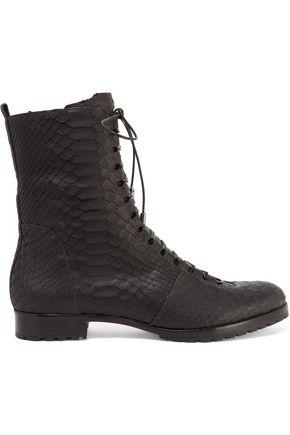 ALEXANDRE BIRMAN Benjamin lace-up python boots