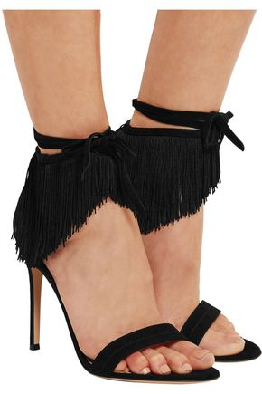 GIANVITO ROSSI Fringed suede sandals