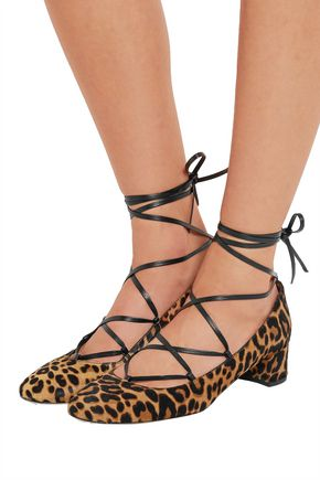 J.CREW Evelyn leopard-print calf hair pumps