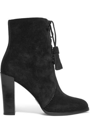 MICHAEL KORS COLLECTION Odile leather-trimmed suede boots