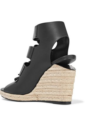 ALEXANDER WANG Jo leather wedge sandals