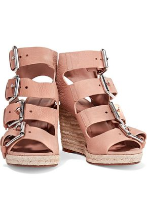 ALEXANDER WANG Jo nubuck wedge sandals