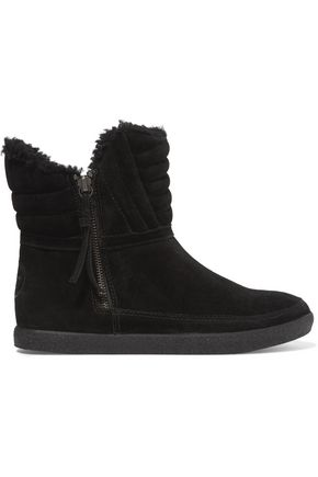 TORY BURCH Loriner shearling-lined suede boots