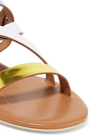 STELLA McCARTNEY Faux metallic patent-leather sandals