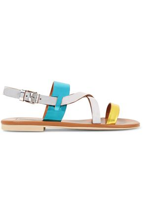 STELLA McCARTNEY Faux metallic patent-leather sandals