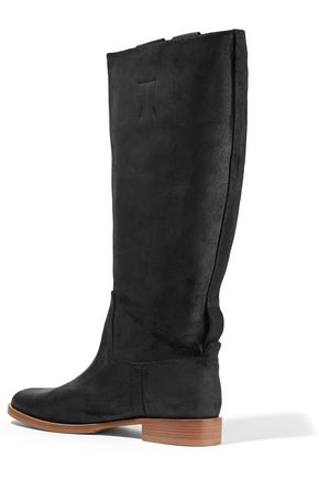 RAG & BONE Holly coated-leather knee boots