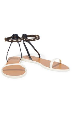 TORY BURCH Leather and PVC sandals