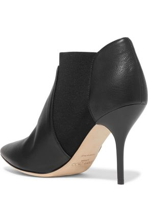 JIMMY CHOO LONDON Textured-leather ankle boots