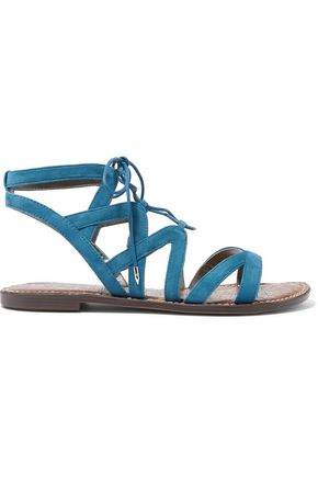 SAM EDELMAN Gemma snake-effect faux leather sandals