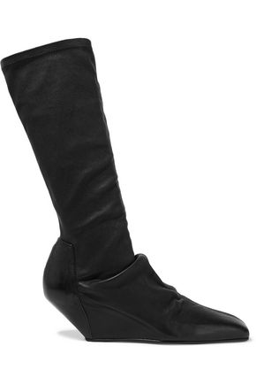 RICK OWENS Textured-leather boots