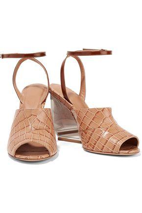 MAISON MARGIELA Croc-effect leather sandals