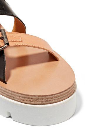 MM6 MAISON MARGIELA Leather platform sandals