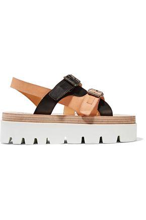 503699f6cf9 MM6 MAISON MARGIELA Woman Leather Platform Sandals Black ...