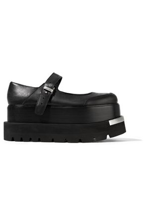 MM6 MAISON MARGIELA Nubuck platform mary jane shoes