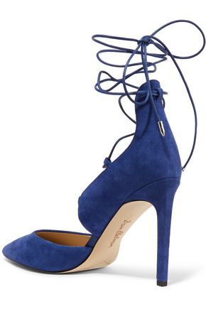 SAM EDELMAN Helaine suede lace-up pumps