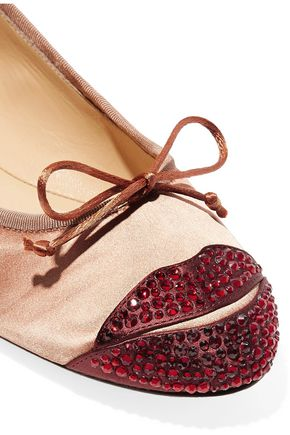 CHARLOTTE OLYMPIA Kiss Me Darcy embellished satin ballet flats
