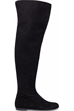 GIUSEPPE ZANOTTI DESIGN Suede over-the-knee boots